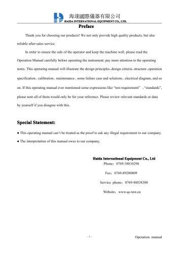 Tensile tester\u0027s User Manual - HAIDA EQUIPMENT CO, LTD - PDF