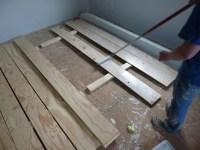 Low Budget DIY Plywood Plank Floors | DiyDork.com