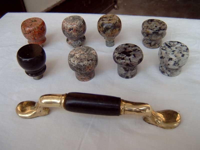 black granite drawer pulls, Natural granite cabinet knobs