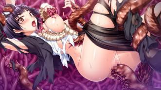 敗北の淫獣ハンター・月氷姫レイ ~名門女学生と共に触手の苗床にされる美少女剣士~