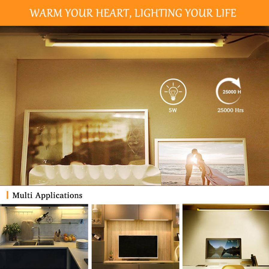 Nachttischlampe Mit Dimmer Youoklight 30cm 5w 2pcs Warm White Reading Lamp Usb Night Study Reading Book Light Led Bar Strip Table Lamps With Switch