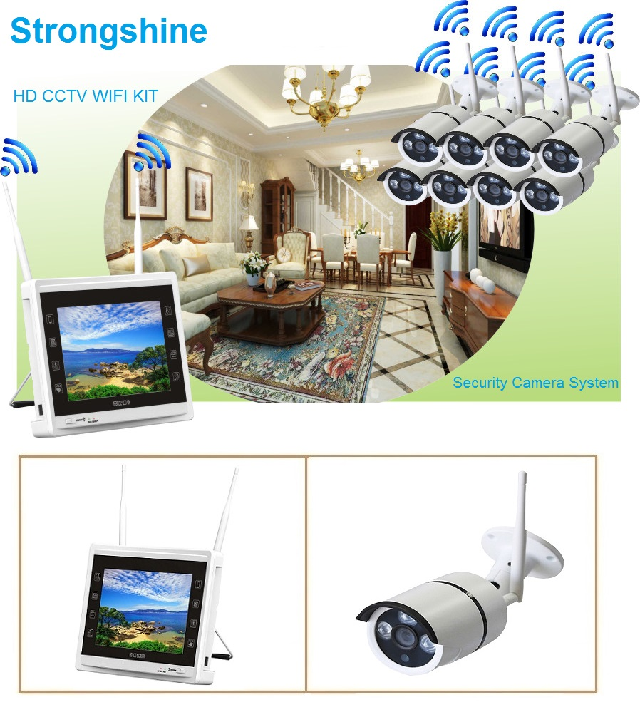 Tappeto Home Theatre Strongshine 8 Channel Wireless Security Camera System With Hd 960p Ip Surveillance Cameras 11