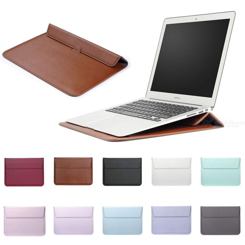 Macbook Air 13 Pro Retina Leather Sleeve Protector Bag Stand Cover For Macbook Air 13 Pro
