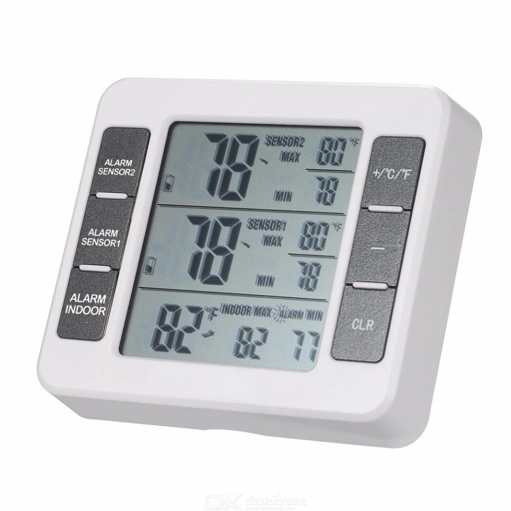 Digital Thermometer Temperature Meter With Weather Station C F - Bbq Temperatuurmeter