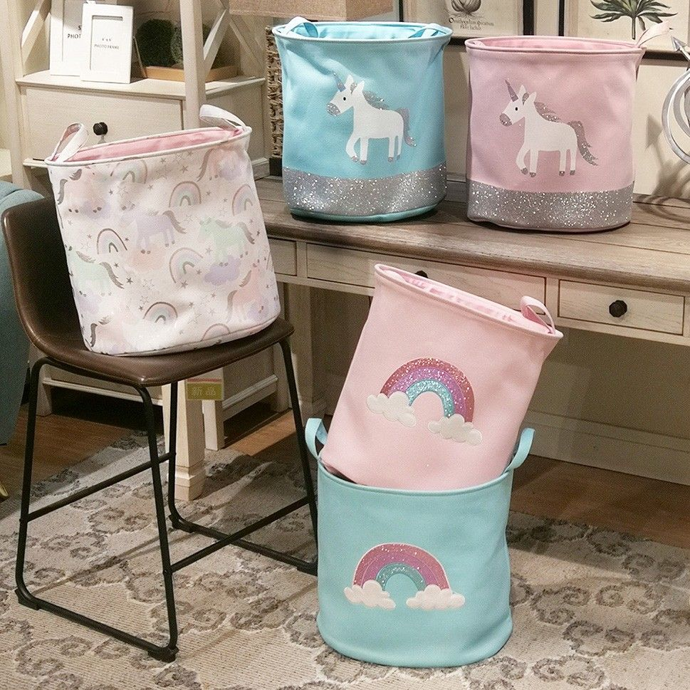 Cute Laundry Hamper Collapsible Laundry Hamper Cute Cartoon Foldable Clothes Basket With Handles 40 X 33 X 40cm