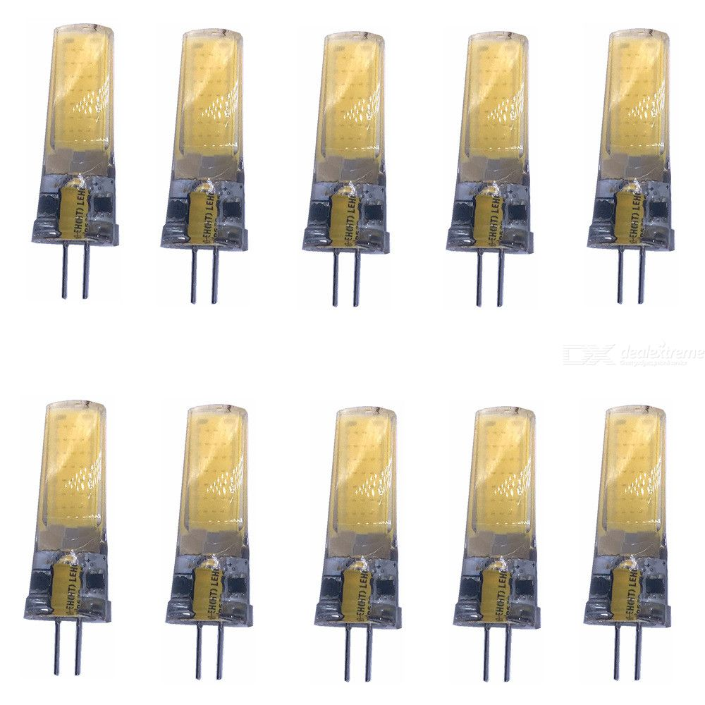Cob Led Verlichting Zhaoyao G4 5w Acdc 12v Cob Led Lights White Light Lamps 10pcs