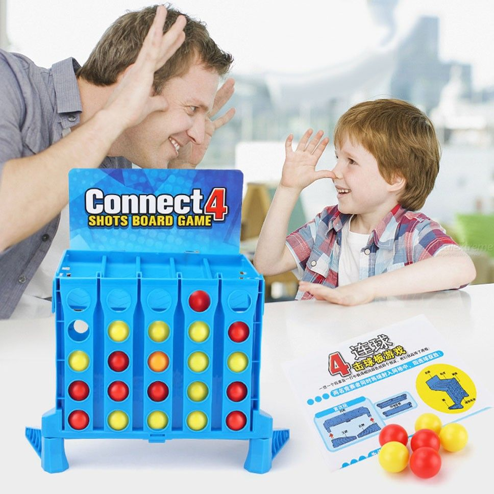 Babies Interactive Toys Children Logical Thinking Training Toys Creative Four Consecutive Balls Game Fun Parent Child Interactive Toys