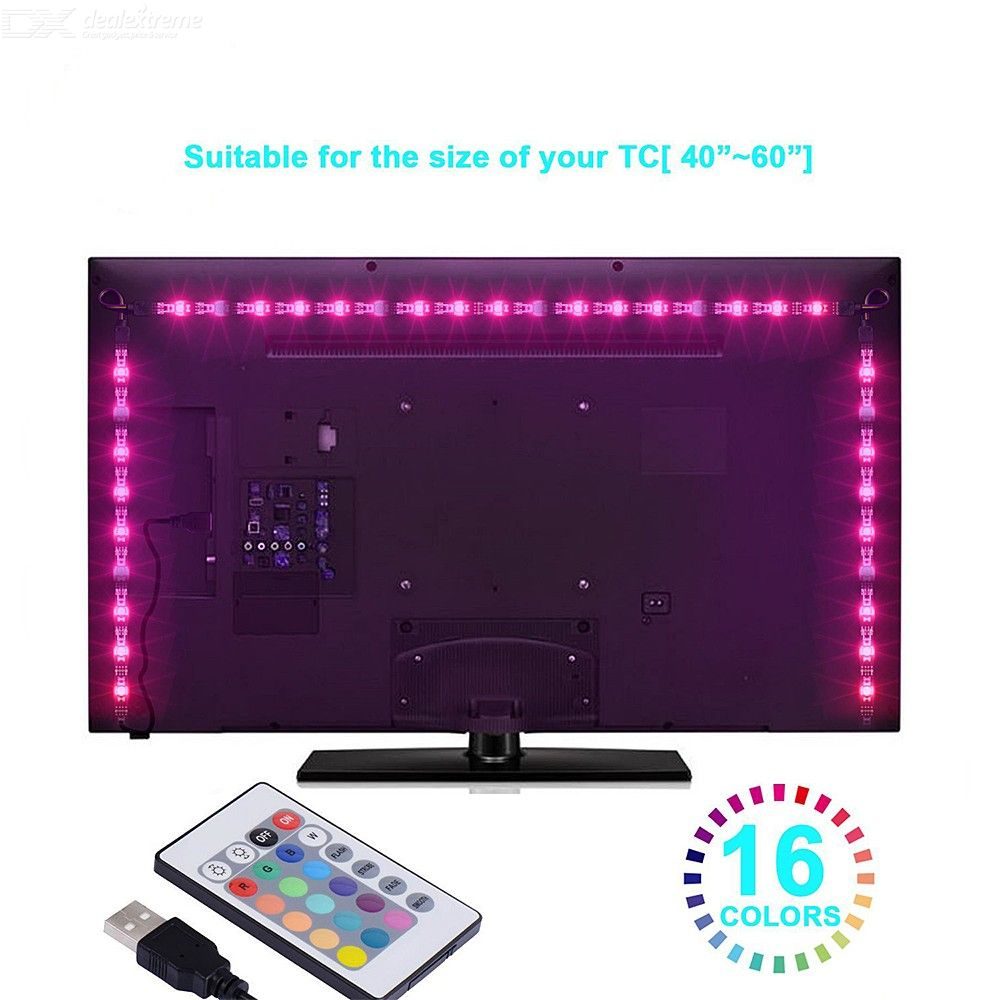 Led Lichtleiste Rot 4pcs 5m Led Strip Lights Usb Led Tv Backlight Kit Smd 5050 Rgb Lights With Remote For Hdtv