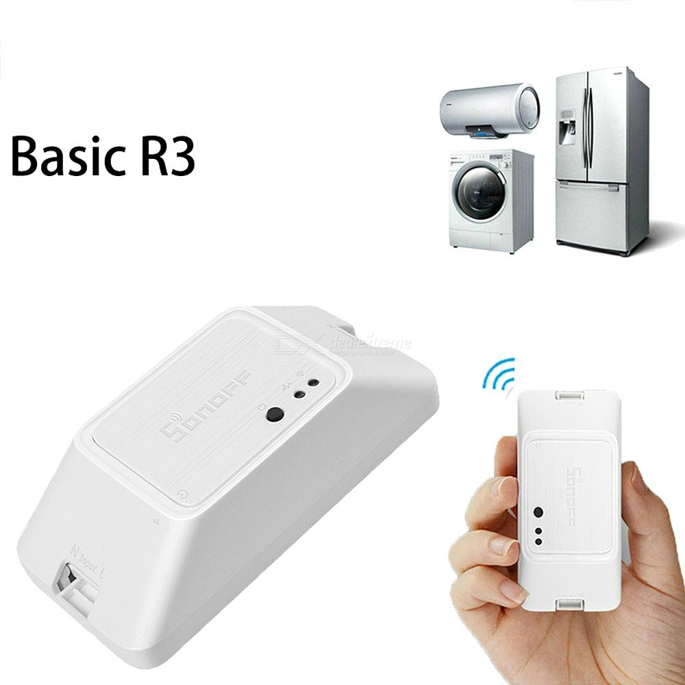 Diy Mode Sonoff Basic R3 Smart Onoff Wifi Switch Light Timer Support Applanvoice Remote Control Diy Mode Works With Alexa Google Home