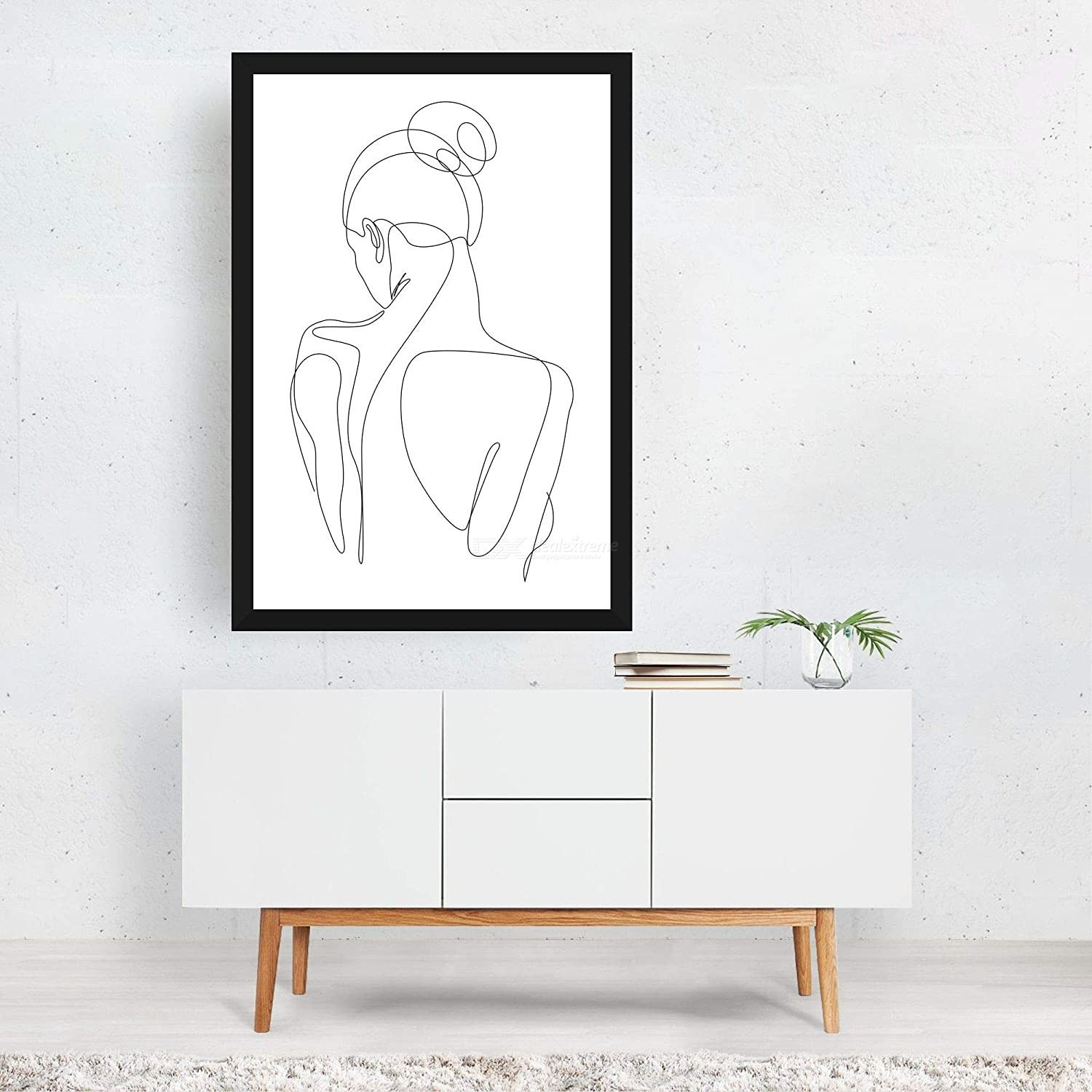 Dh Sexy Woman Body Line Abstract Poster Wall Art Pictures Modern Wall Art Painting Unframed For Living Room Bedroom Wall Decor Free Shipping Dealextreme