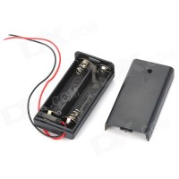 3V 2*AA Battery Holder Case Box with Leads - Black - Free ...