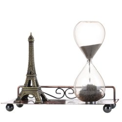 H 012 Eiffel Tower Style Magnetic Sand Clock Bronze Free