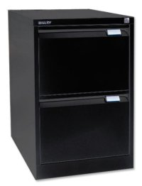 Bisley 2 Drawer Locking Foolscap Filing Cabinet - Black ...