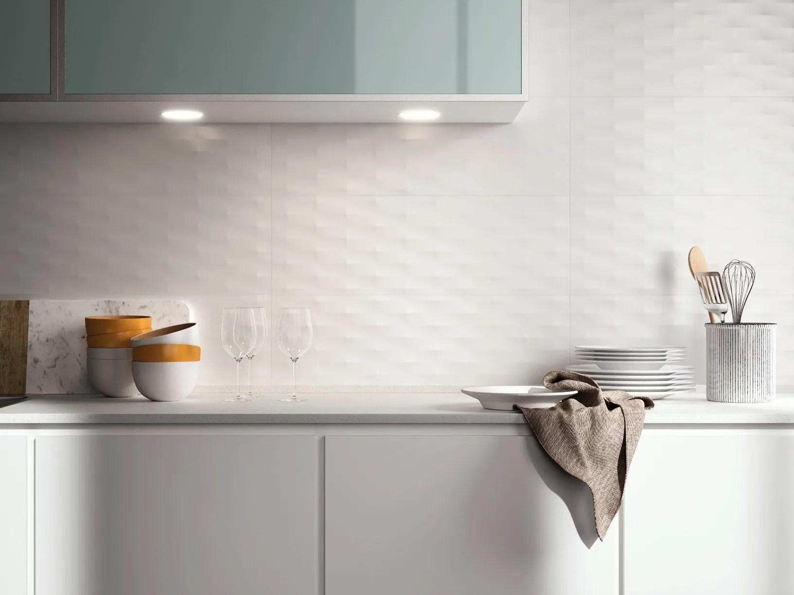 Piastrella bianca lucida texture tridimensionali opache o