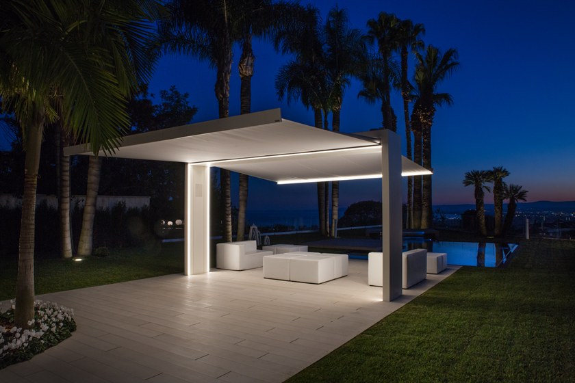 Freestanding motorized Folding arm awning GATE SHADE By UNOSIDER - house sale contract