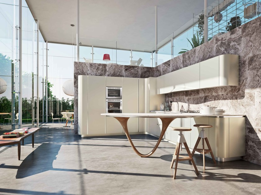 Toll OLA 20 Küche Mit Halbinsel Kollektion ICONE By Snaidero Design