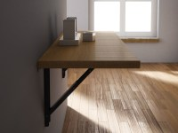 Wall mounted drop-leaf wooden table VULCANO by CANCIO