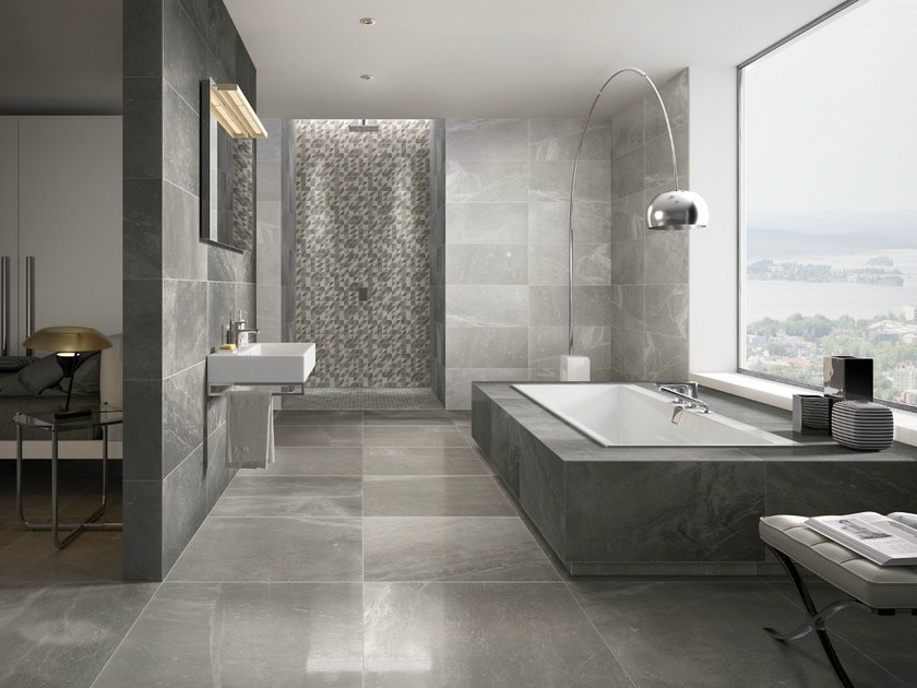 Revestimento de pisos\/paredes de grés porcelânico com efeito - fliesen