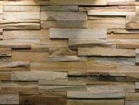 Reclaimed wood 3D Wall Tile BUMPY By Teakyourwall