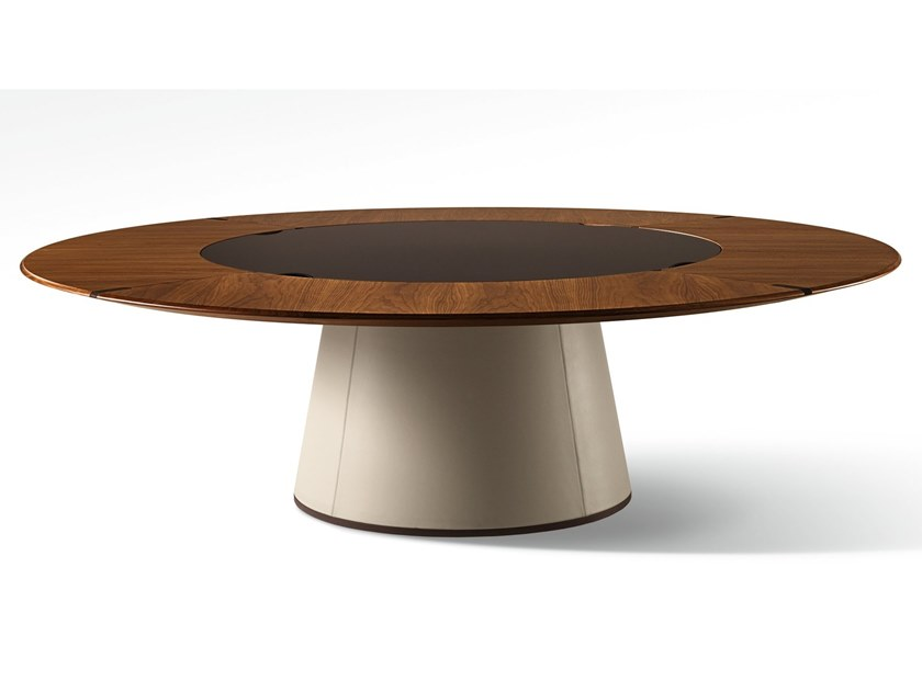 Round Wooden Table Fang Round Table By Giorgetti