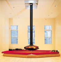 Open central hanging fireplace GYROFOCUS Gyrofocus ...