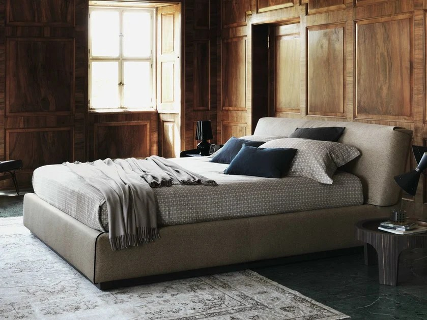GENTLEMAN Bett mit Polsterkopfteil By Flou Design Carlo Colombo - die betten von flou