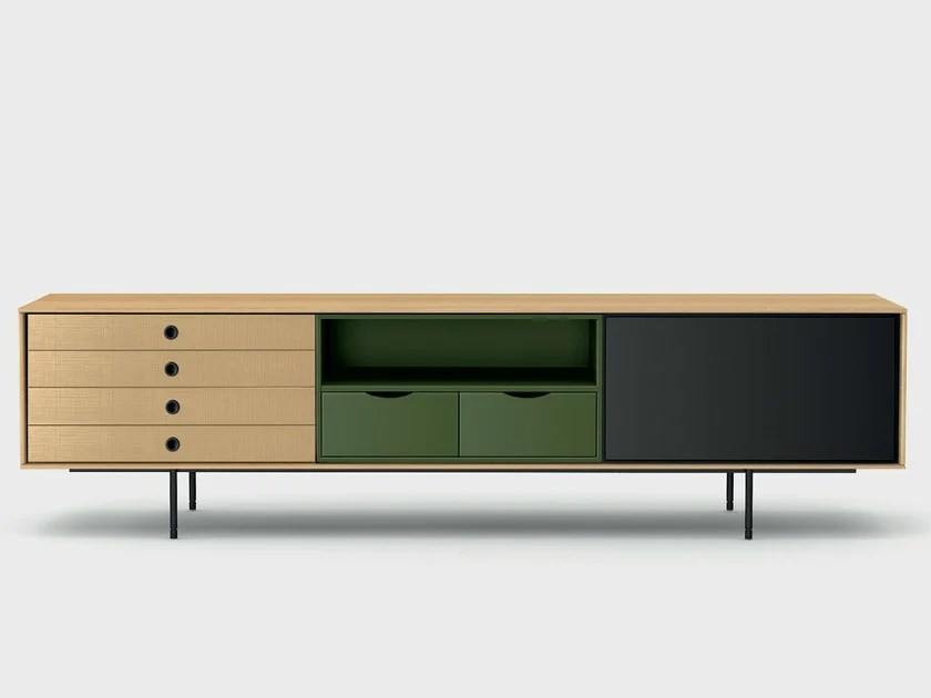 Meuble Tv Treku Contemporary Style Wooden Sideboard Aura C8-2 By Treku
