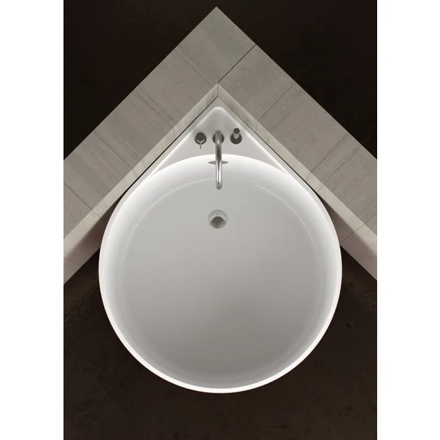 Mini Vasca Da Bagno Vasca Da Bagno Angolare Rotonda Mini White - Glass Design