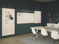 WALL-MOUNTED SLIDING OFFICE WHITEBOARD MOOW BY ABSTRACTA ...