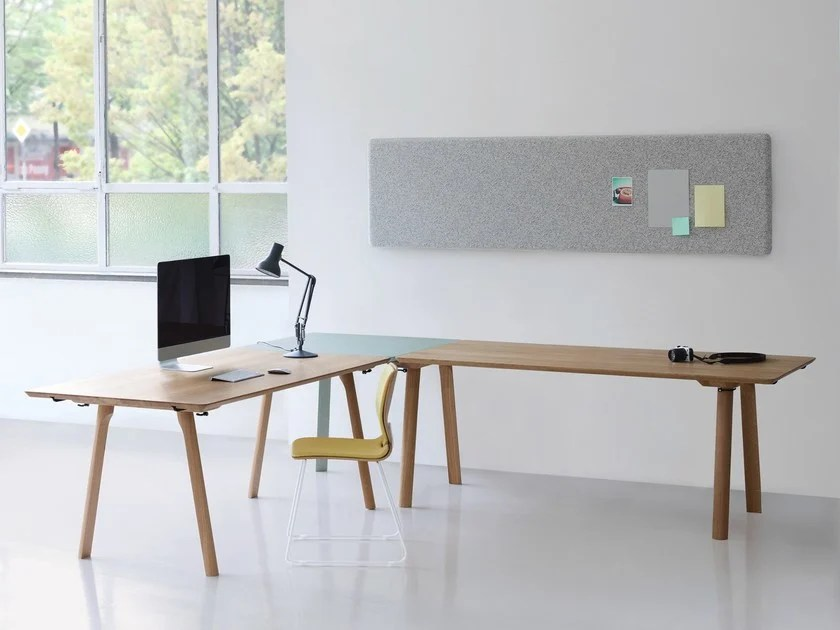 RAIL L-shaped office desk RAIL Collection By ZEITRAUM