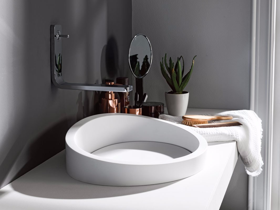 Lavabo Krion Almond Lavabo Semi Encastré By Systempool
