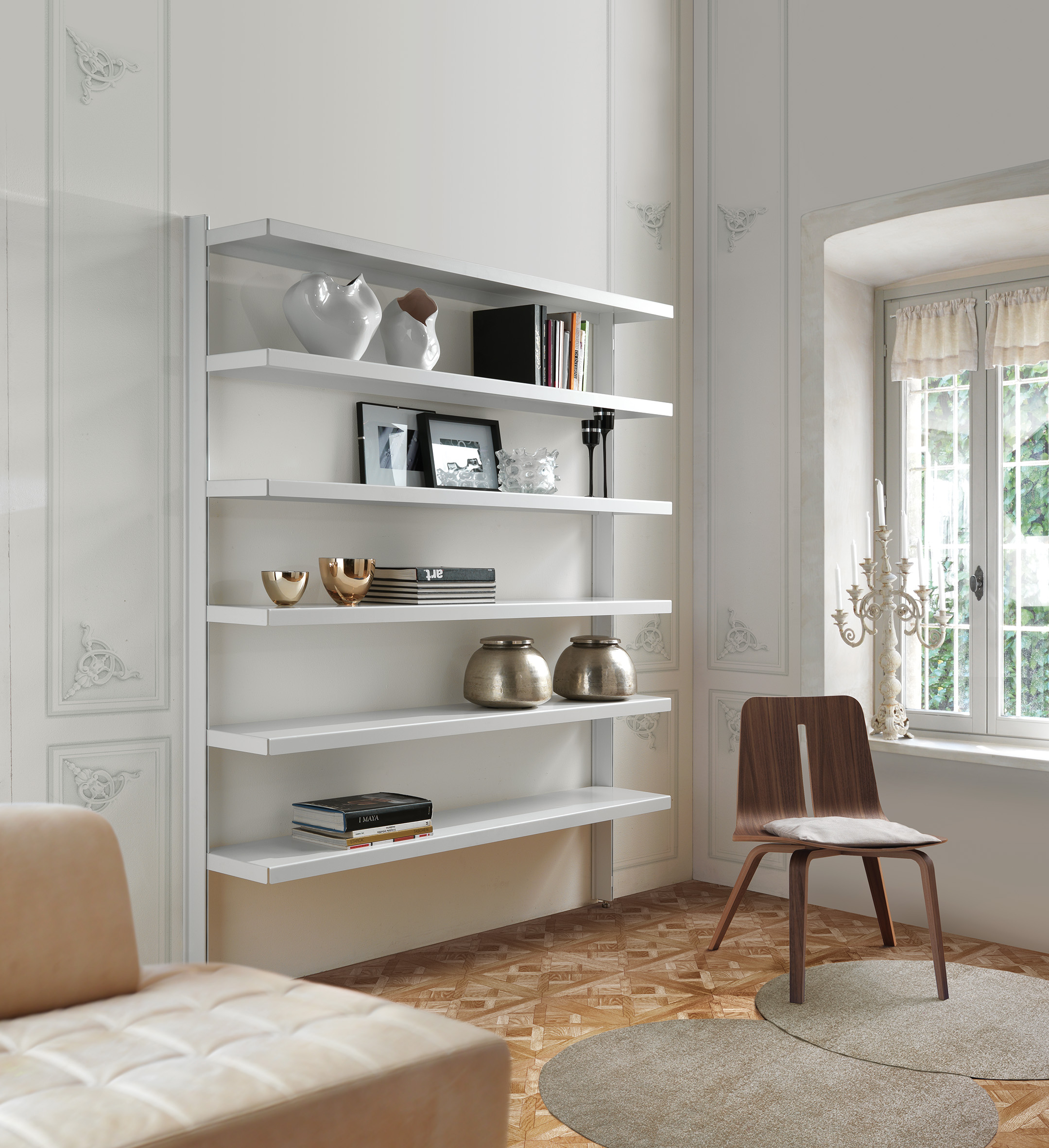 Big Home Wall Mounted Bookcase By Caimi Brevetti Design