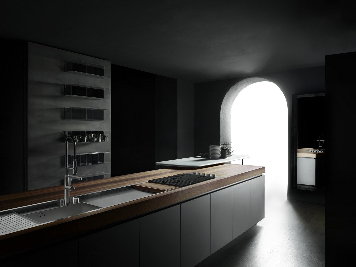 Boffi Cocinas Fitted Kitchen With Island Boffi Code Kitchen By Boffi