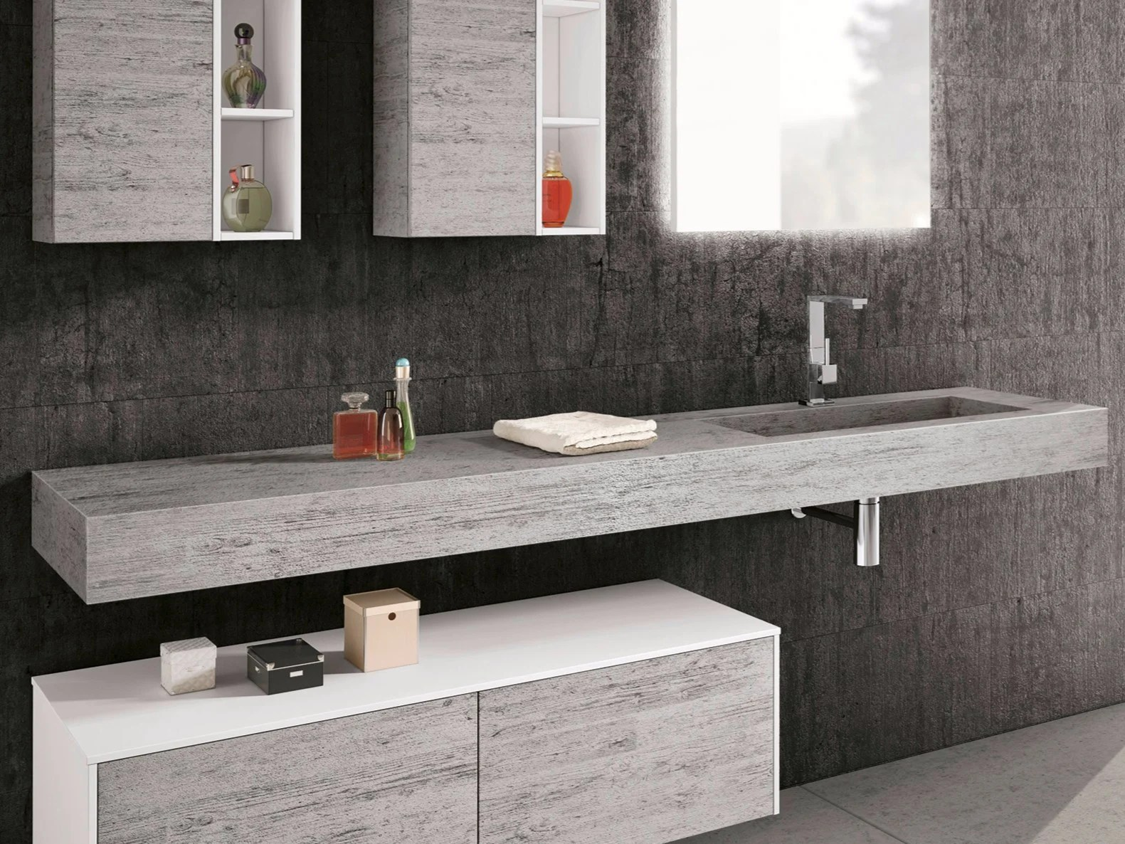 Lavabo Integrato Piano Lavabo In Hpl Con Lavabo Integrato Change Hpl By