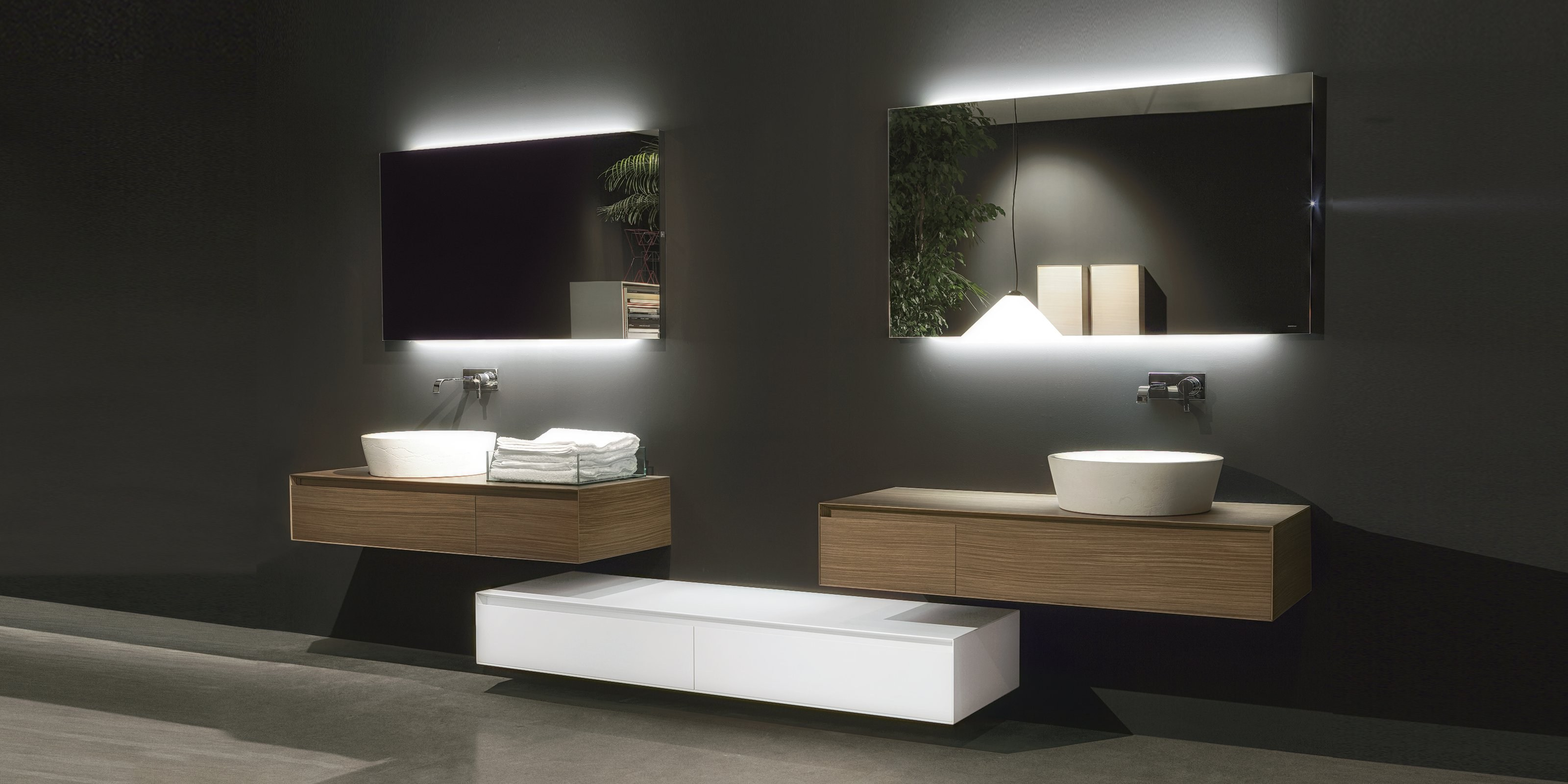 Meuble Double Vasque 120 Panta Rei By Antonio Lupi Design
