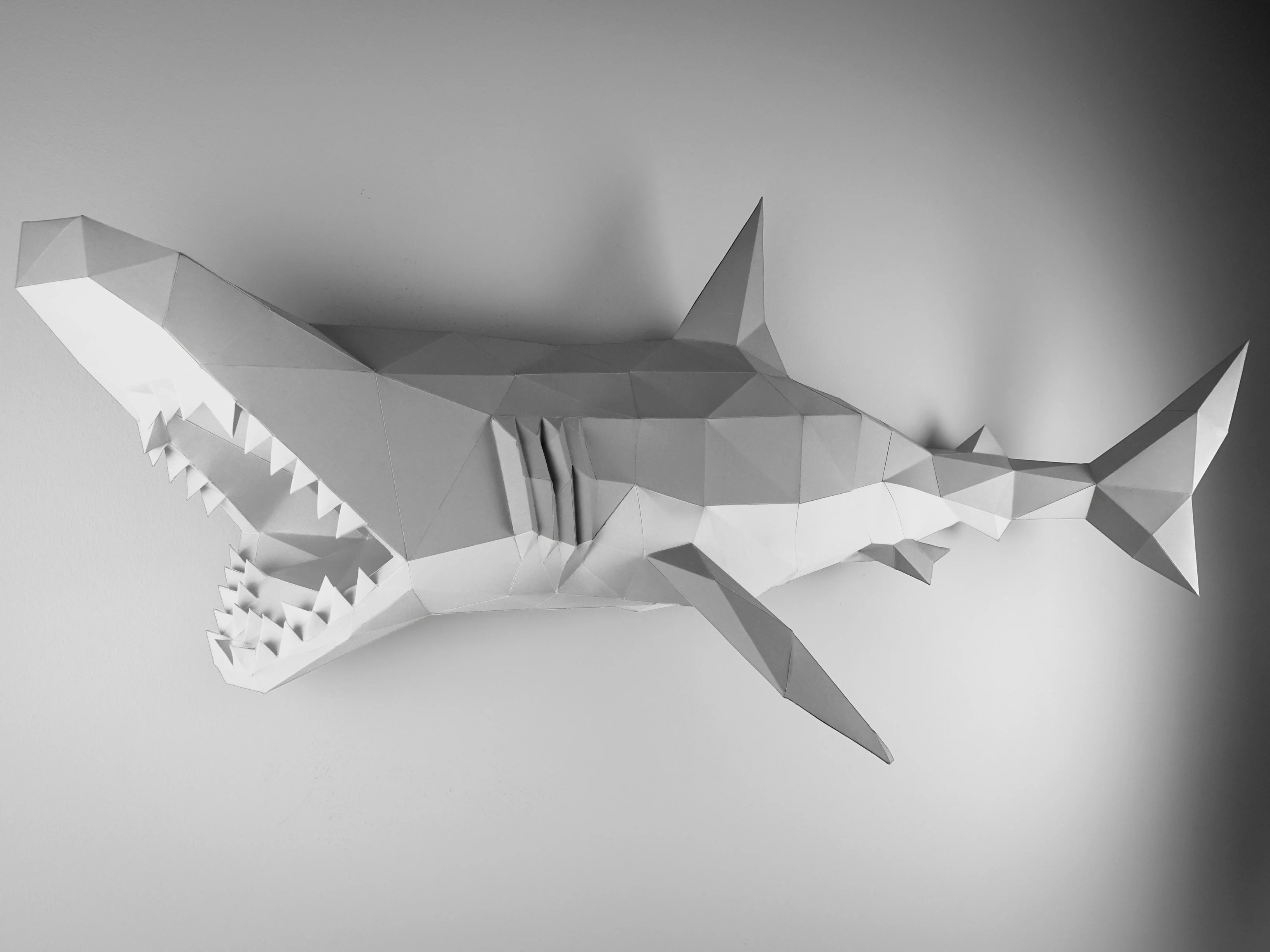 Papertrophy Paper Wall Decor Item Xl Shark By Papertrophy
