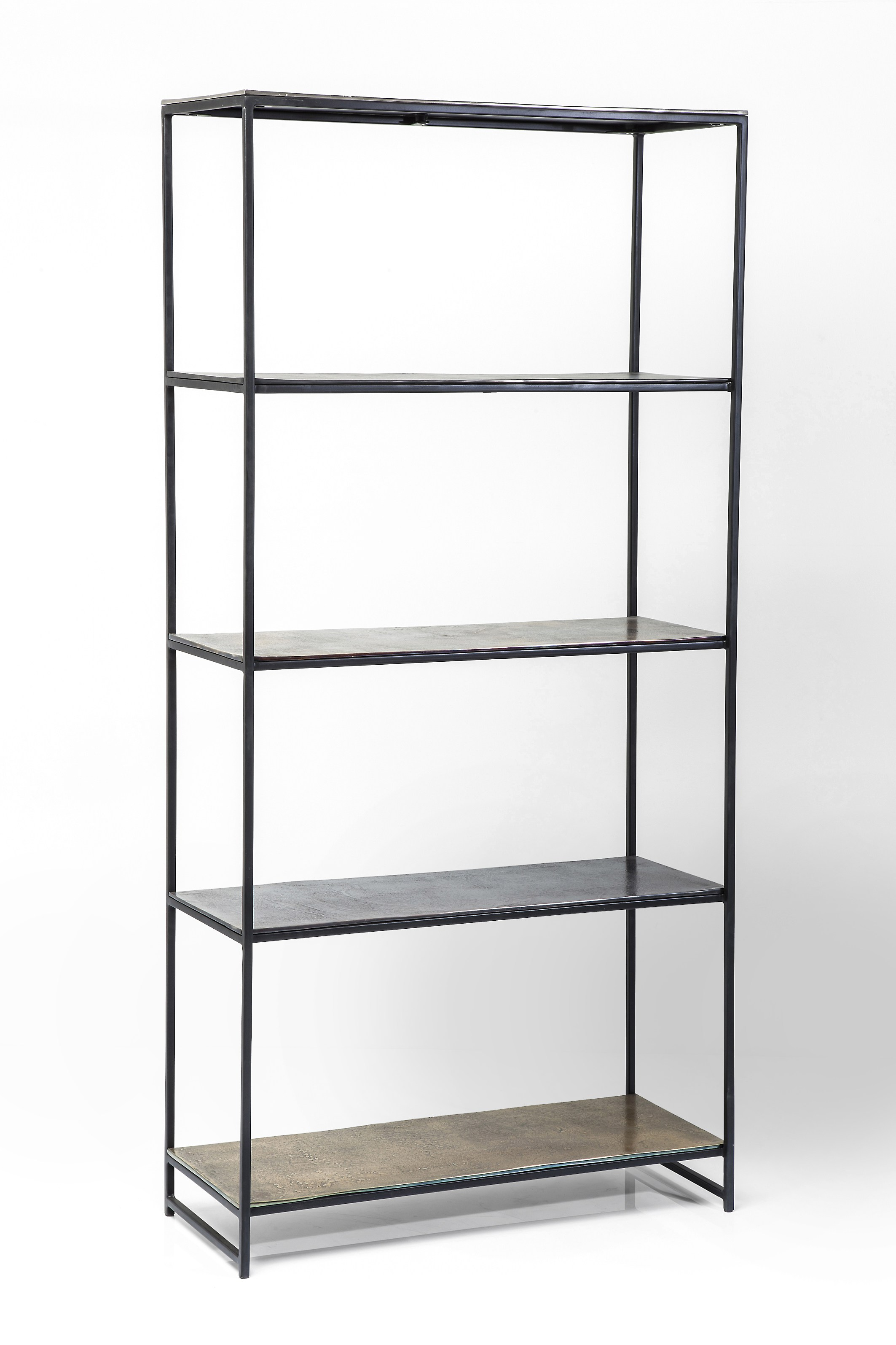 Aluminum Bookcase Open Metal Bookcase Fetta By Kare Design