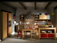 INDUSTRIAL CHIC | Cucina con isola By L'Ottocento