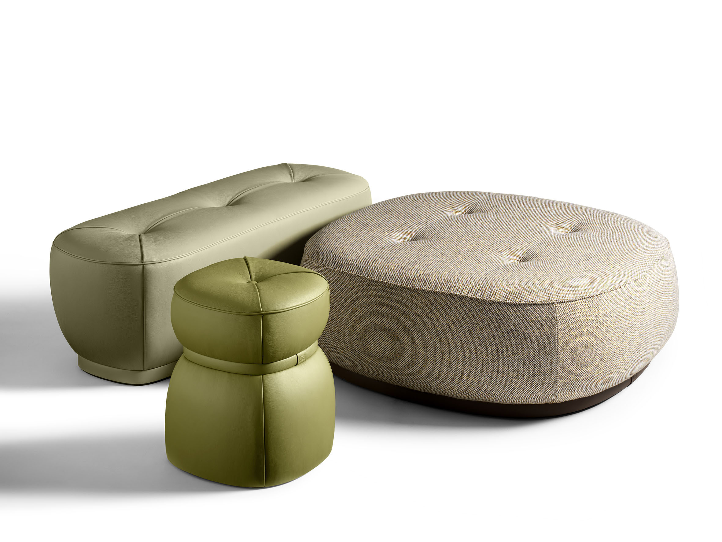 Lepli Fabric Pouf The Collection Sofa And Armchairs - Poltrona Design Patchwork