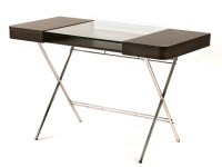 Wood writing desk with drawers and glass top COSIMO WENG