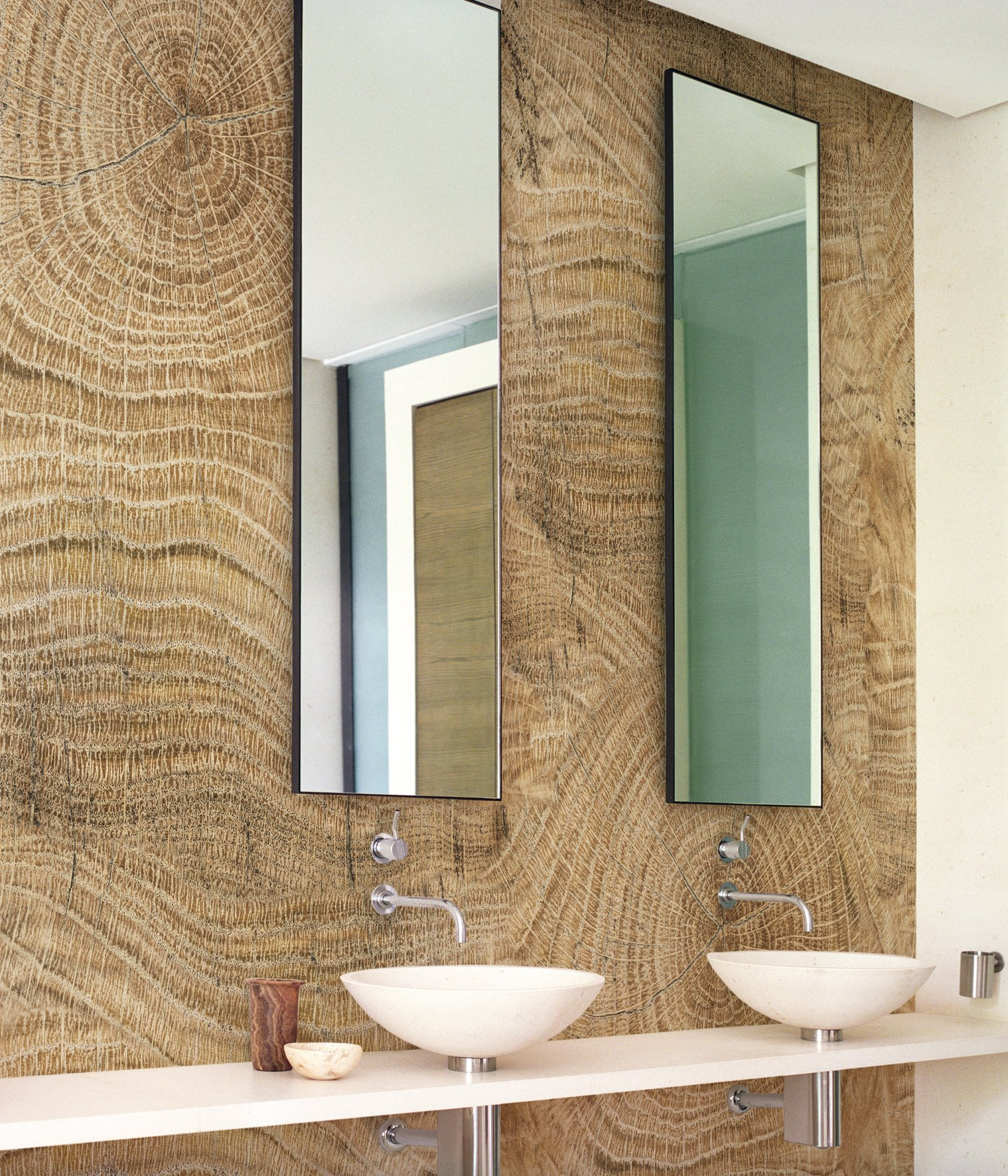 Papel Pintado De Pared Wood Effect Bathroom Wallpaper Life Lines By Wall Anddecò
