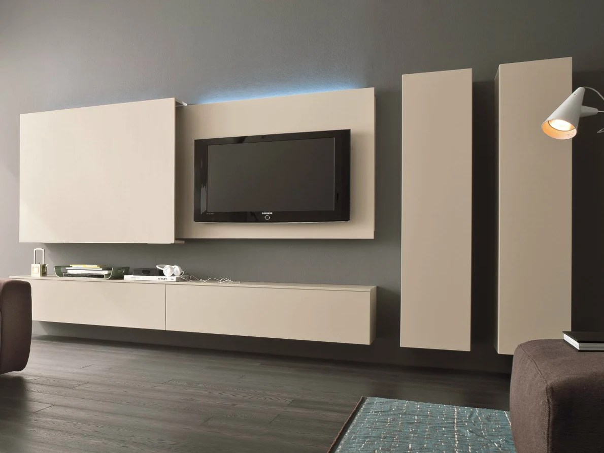Meuble Tv 3m Mueble Modular De Pared Composable Con Soporte Para Tv