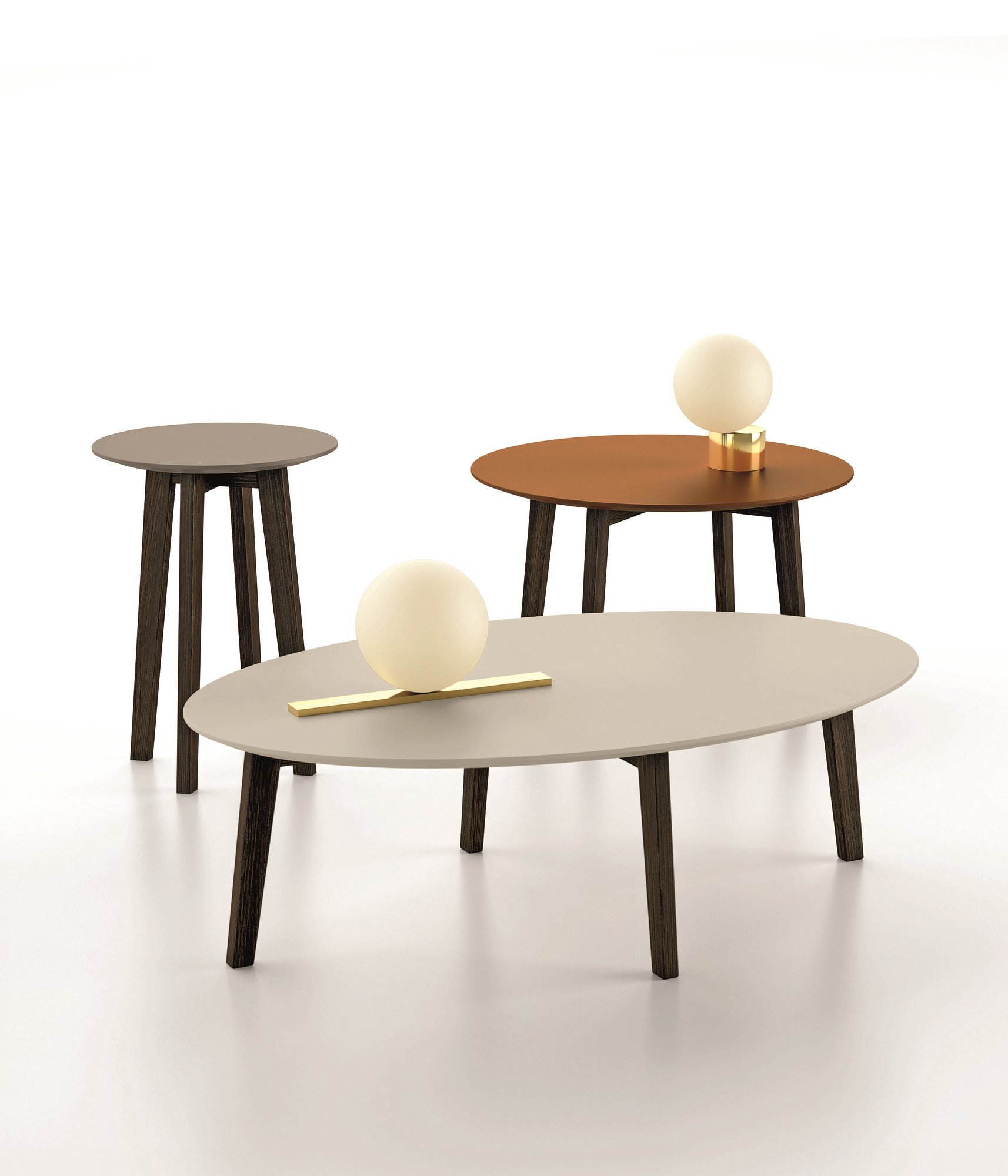 Table Basse Ronde Ovale Zoe Table Basse Ovale By Dallagnese Design Imago Design