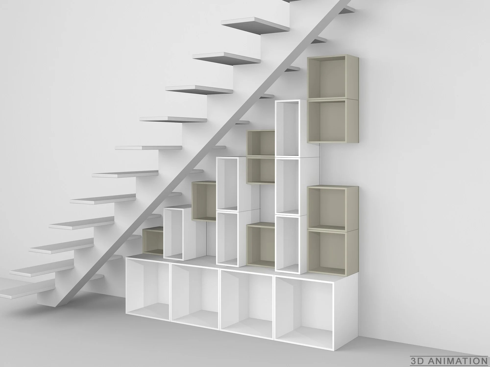 Under Stairs Bookcase Modular Shelving Unit By Cubit By Mymito Design Cubit