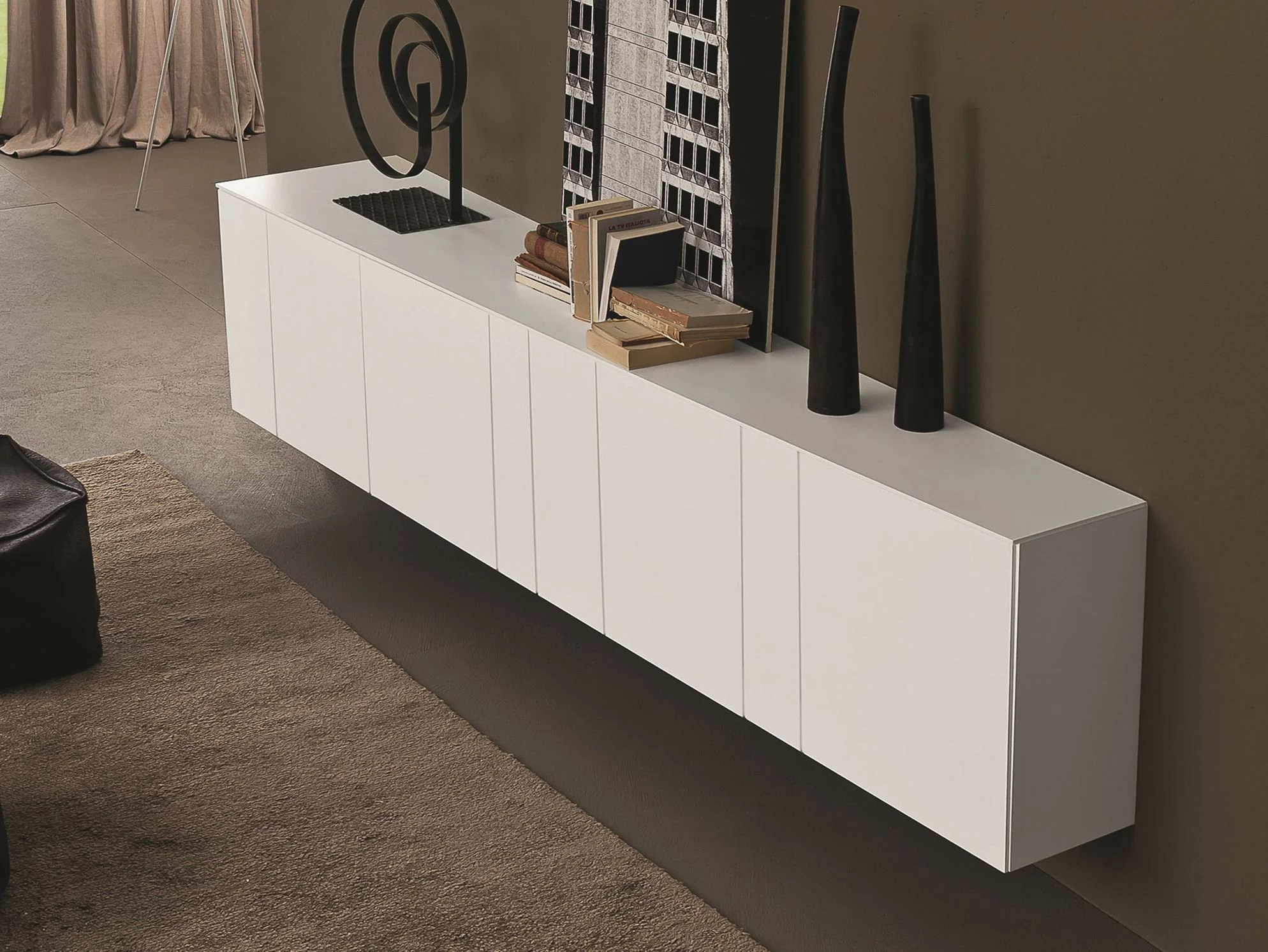 Armonia Meuble Tv Inclinart Madia Laccata By Presotto Industrie Mobili