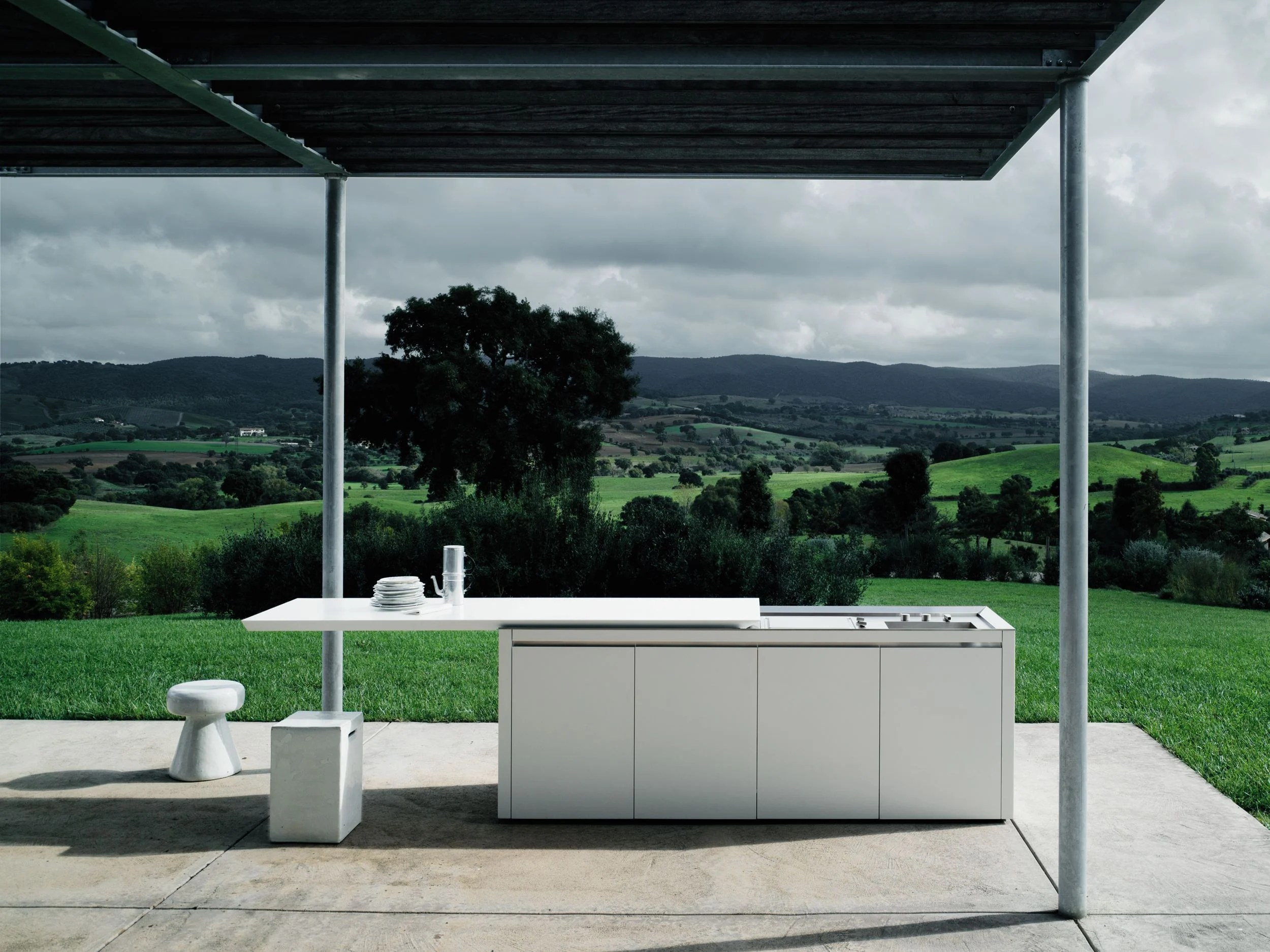 Cuisine Boffi Corian Outdoor Kitchen K2 Outdoor By Boffi Design Norbert