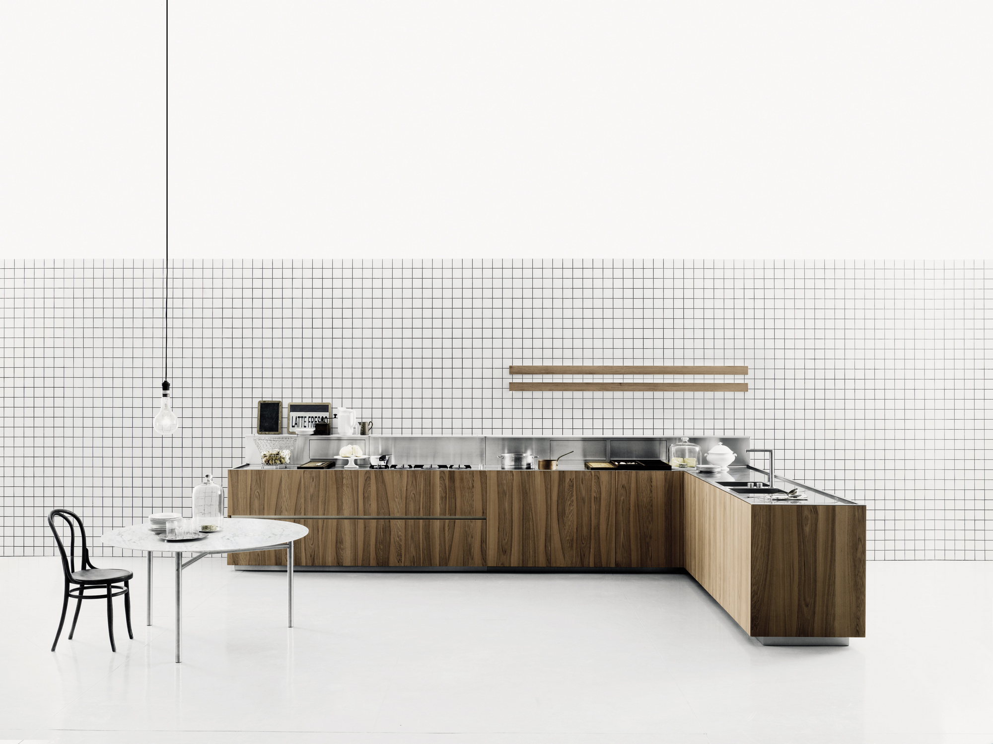 Cuisine Boffi Wood Veneer Kitchen K20 By Boffi Design Norbert Wangen