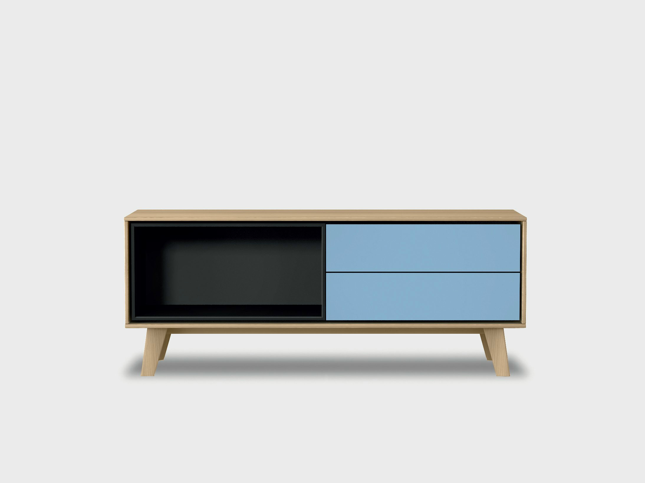 Treku Meuble Tv Lacquered Solid Wood Sideboard Aura C2 2 By Treku Design