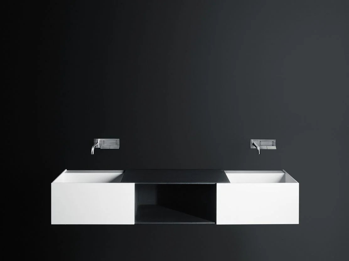 Lavabo Boffi Double Wall Mounted Corian Washbasin Duec By Boffi Design