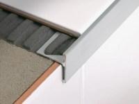 Linear metal stair nosing profile STAIRTEC SR by PROFILITEC